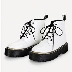 Shoes - Dr. Marten look alike white platform boot